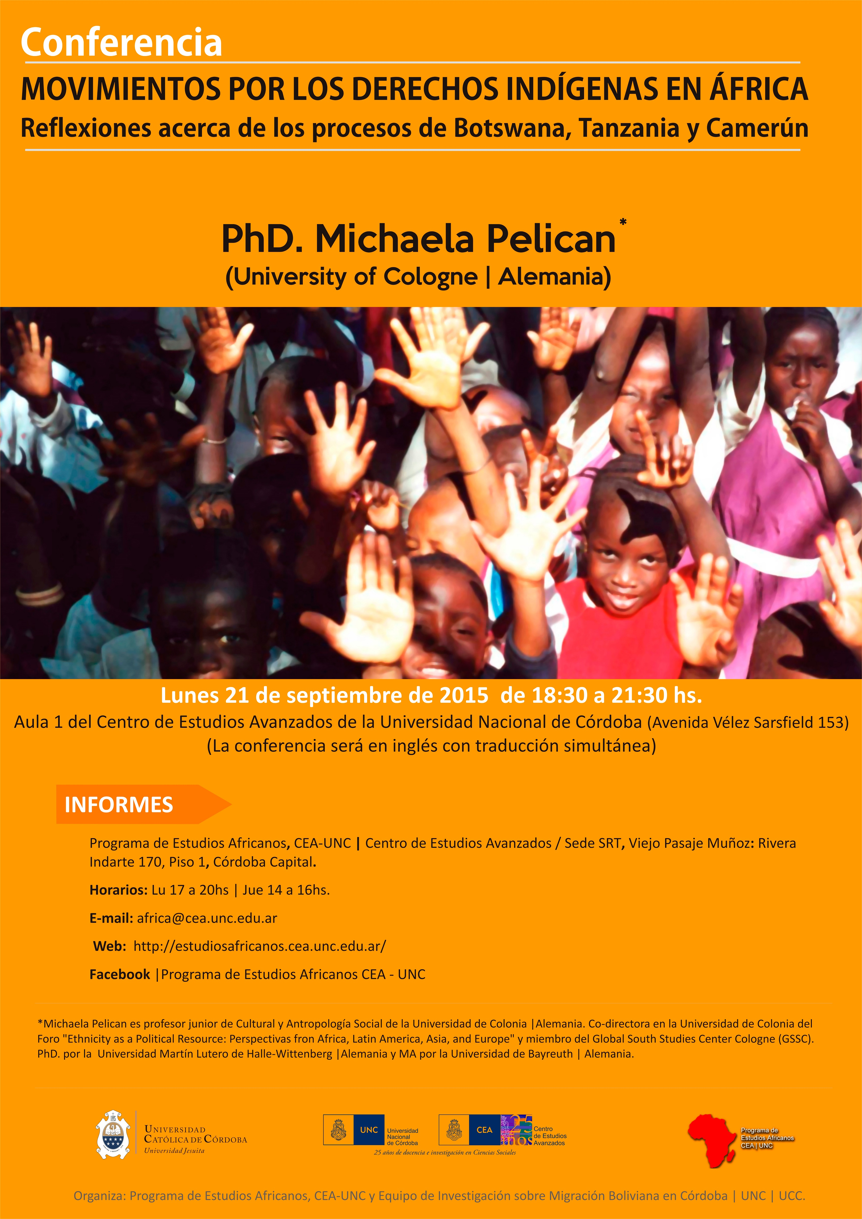 Conferencia Programa de Estudios Africanos - sep 2015